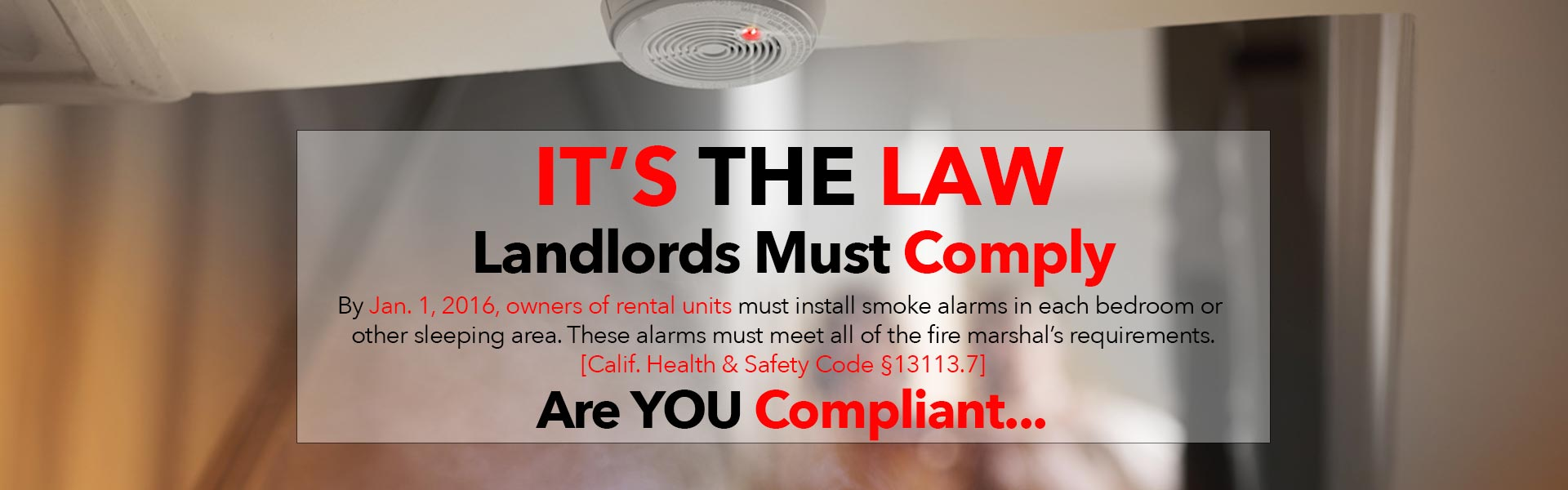 2018 Residential Code Update Smoke Alarms