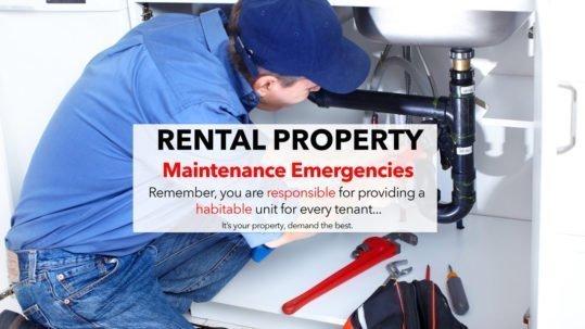 Rental Property Maintenance Emergencies