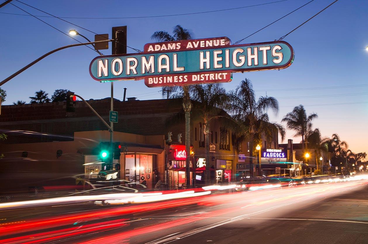 Normal Heights San Diego Neighborhood